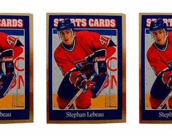 5 - 1992 Sports Cards #97 Stephan Lebeau Hockey Card Lot Montreal Canadiens