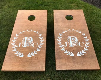 Custom Corn Hole Boards, Custom Wedding Cornhole Boards, CornHole Boards, Corn Toss Boards, Wedding Corntoss, Optional LED Lights
