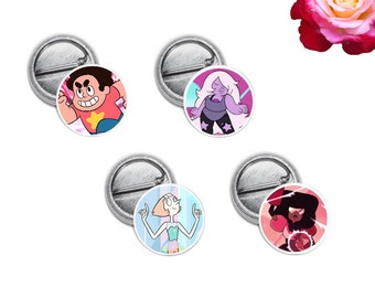 "Steven Universe Mini 1"" inch Pinback Button OR Magnet"