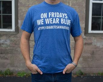 On Fridays We Wear Blue ADULT T-SHIRT