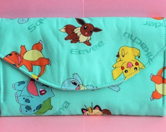 Pokemon Quilted Necessary Clutch Wallet with 10 card slots and zipper pockets NCW EDC