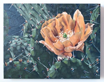 """Original Oil Painting, Floral Cactus Painting, Contemporary Realism Art, On SALE, """"Spring in the Desert"""""""
