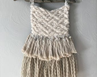 Stella//Large Handmade Fringy Boho Woven Wallhanging//OOAK//Ready To Ship