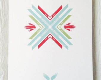 Folk Pattern 1 Screen Print