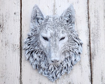 Wolf Head // Wolf Decor // Choice Color // Native American Decor // Wolf Wall Sculpture // Faux Animal Head // Faux Taxidermy