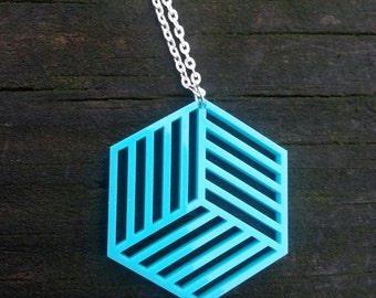 Hexagon Shutter Necklace