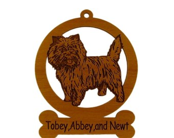 Cairn Terrier Ornament 082047 Personalized With Your Dog's Name