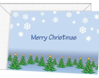 Personalized Christmas Tree Cards - Season's Greetings/Christmas