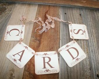 Cards Banner,  Wedding Garland, Cards Sign