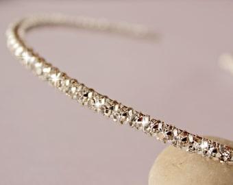Thin headband tiara Rhinestone Wedding hair accessories head band