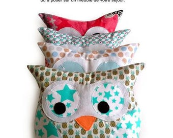 Easy sewing - OWL cushion pattern