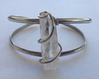 Sterling Silver Quartz Crystal Bracelet