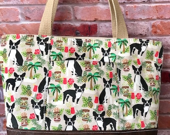 Boston Terrier purse everyday tote bag