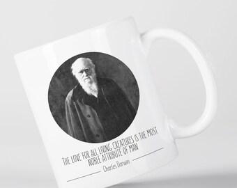 Love for All Living Creatures Charles Darwin Origin of Species Evolution Atheist Mug M1421