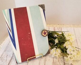 Junk Journal Hard Cover- Masculine Journal, Junk Journal, Travelers Notebook