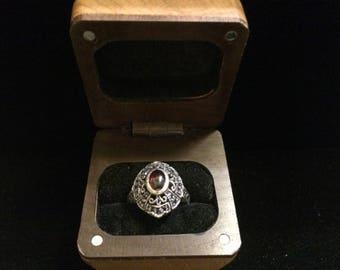 Wood Hinge Ring Box, Tooth Fairy Box (#10) Ring Bearer, Proposal, Wedding, Gift Box