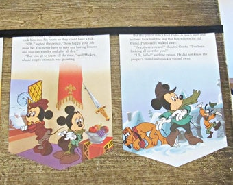 The Prince and The Pauper Birthday Bunting - Mickey Mouse Banner Decoration Garland For Children - Photography Prop Nursery Homewares Party