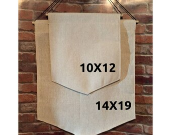 Canvas Wall Hanging, Banner, Pennant, DIY, Pendant, Make your own Banner, Enamel Pin, Craft Project, Gift for Him, Gift for Her, Badge, Pin