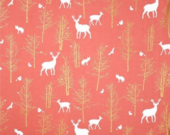 Brambleberry Ridge by Violet Craft for Michael Miller - Timber Valley & Flight - Coral