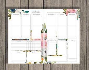 Weekly Planner Printable, Weekly Calendar, A5 Printable, Family Planner Printable, Printable Calendar.