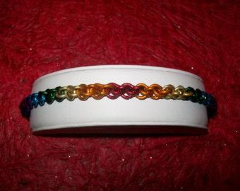 Rainbow JPL Chainmaille Bracelet