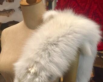 White Arctic Fox pelt