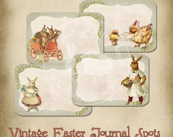Jahrgang Ostern Journaling Spots Tags druckbare sofort Digital-Download