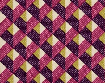 Bungalow, Chevron in Lavender by Joel Dewberry for Free Spirit Fabrics y 4108