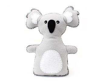 Koala Stuffed Animal Sewing Pattern, Koala Hand Sewing Pattern, Plush Koala, Koala Softie, Koala Stuffie, Australian Animal, PDF Download