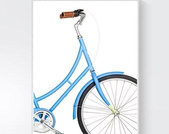 Bicycle Print, bicycle poster, bicycle art, bike wall art, scandinavian print, vintage bike print, bike, Bicycle Print, loftyAndMe, art
