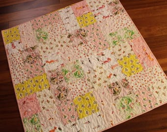 Tiger Lily Baby Girl Quilt