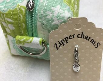Mini Ladybug Zipper Charm, Mini Ladybug Zipper Pull