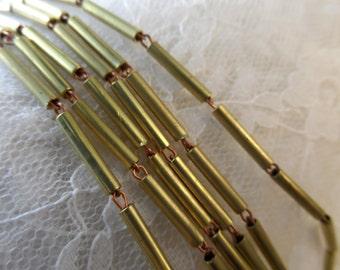 Raw brass tube chain,12mmx2mm,10',CHN19