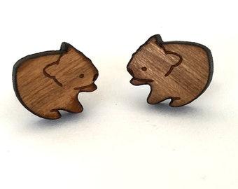 Tiny Wombat earrings