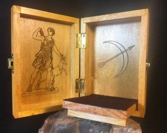 Artemis-Diana Portable Travel Altar Box