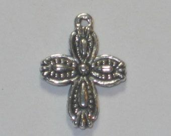 Tibetan Silver Decorative Crosses Pkg 20,Rosary Cross,Rosary Supplies,Rosary Parts,Catholic Rosary,Rosary Supply,catholic cross,rosary cross