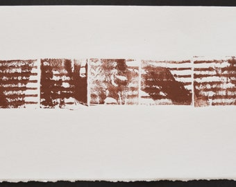 Title: 'Industrial' - One-Off Monotype Print. Abstract image in earthy colours. Acid free 100% archival paper.