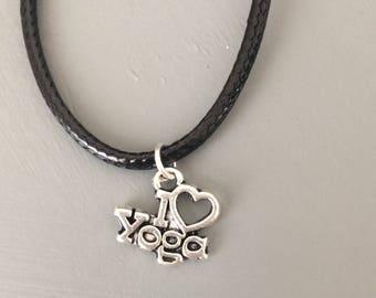 I love yoga necklace