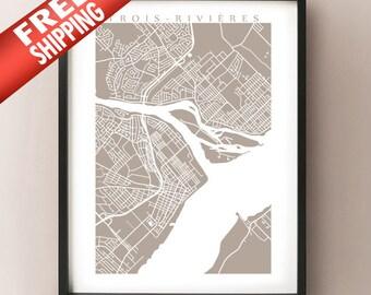 Trois-Rivières Map Print