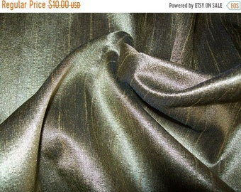 10% OFF One  yard  light green dupioni silk blend