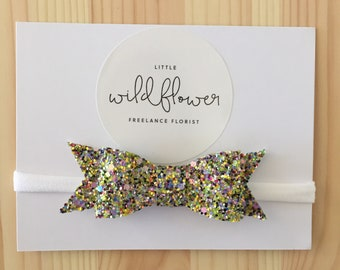 Green Glitter Bow Band