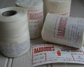 Large spool of 35/3 cord Barbour's Irish Linen thread, Last one!