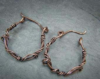 Copper hoops, earrings ~ Small hoops earrings ~ Copper earrings, gift for her ~ Small copper hoops ~ Small hoops earring sets ~ Copper hoops