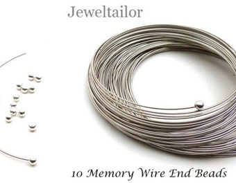 20-100 Silver Plated Memory Wire Half Drilled End Caps/Stoppers 3mm For Memory Wire Ends ~ Jewellery Making Essentials