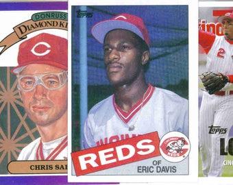 CINCINNATI REDS Baseball Team Lot - 250 Assorted Cards