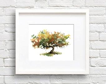 Grape Vine Art Print - Wall Decor - Grapevine - Watercolor Painting