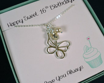 Personalized, Sweet 16 Gift, Sweet 16 Jewelry, 16th Birthday Gift, 16th Birthday, Sweet 16 Birthday, Sweet Sixteen Gifts, Daughter Birthday