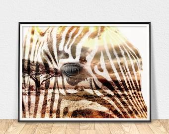 Zebra Wall Art - Animal Print, African Zebra Art, Savannah Animal, Zebra Art Print, Zebra Stripes Print, African Animal Art, Modern Prints