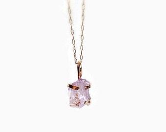 Amethyst Necklace, 14K Gold, Raw Amethyst Necklace, Crystal Necklace, Gold Necklace, Gemstone Necklace, Amethyst Jewelry