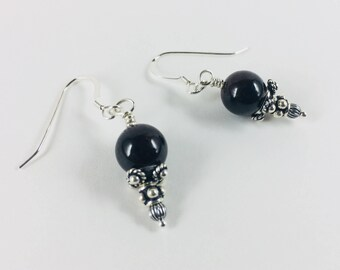 Sterling and Garnet Earrings